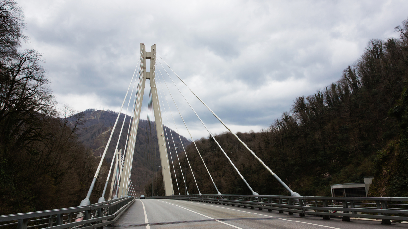 вантовый мост на красную поляну