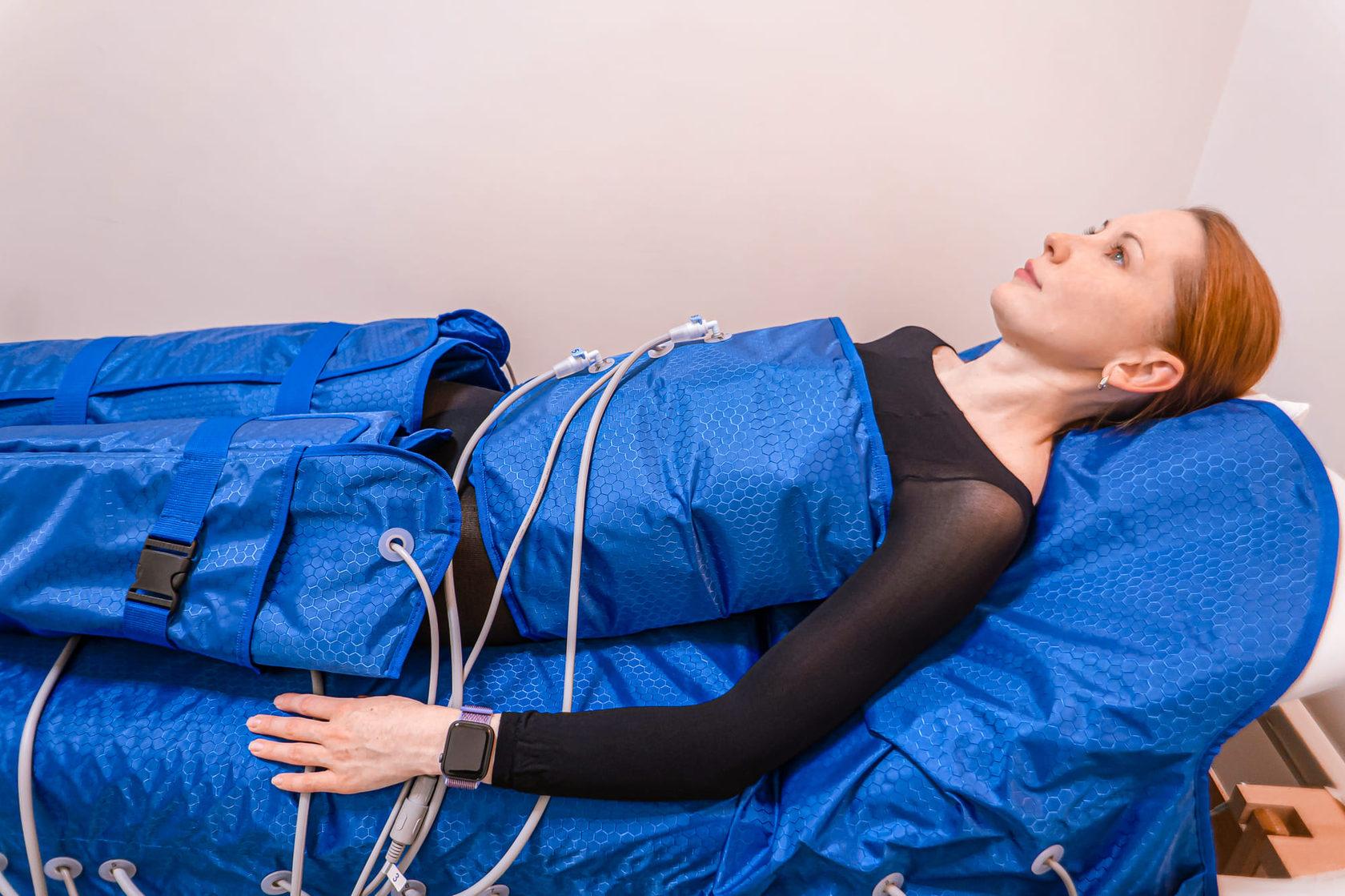 Прессотерапия способствует релаксации мышц