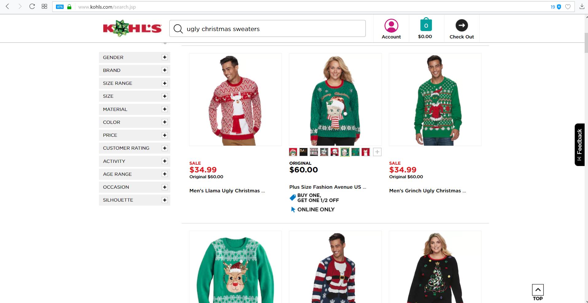 Kohls Mens Christmas Tee Shirts | Lauren Goss