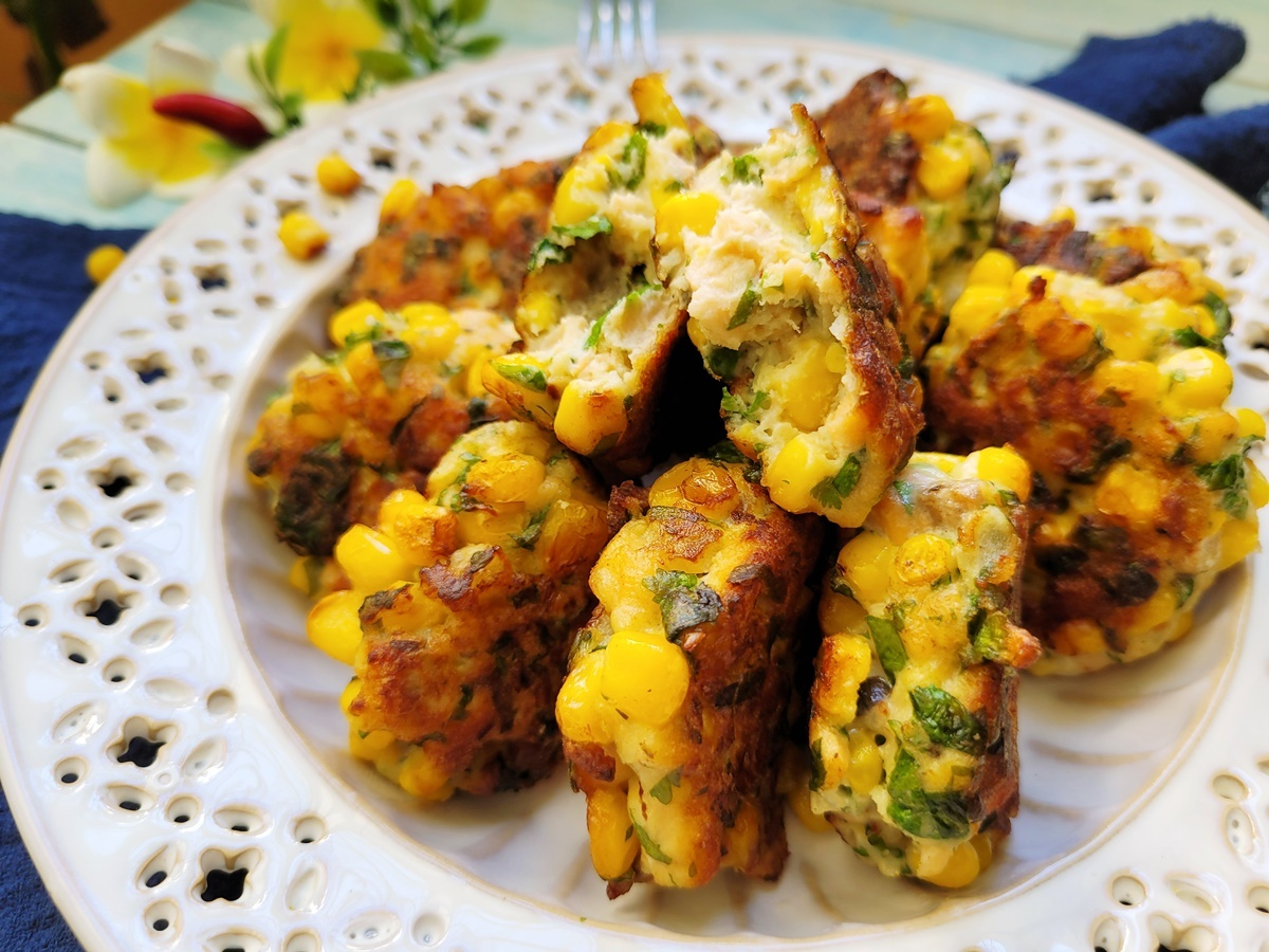 Котлеты - семга и кукуруза. Кулинарный блог Вкусный Израиль.