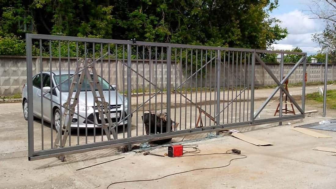 Пример откатных ворот Премиум