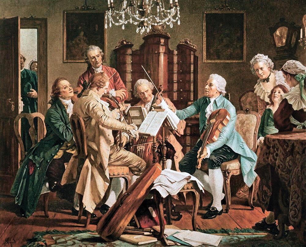 профессия Дирижер, Гайдн дирижирует струнным квартетом.