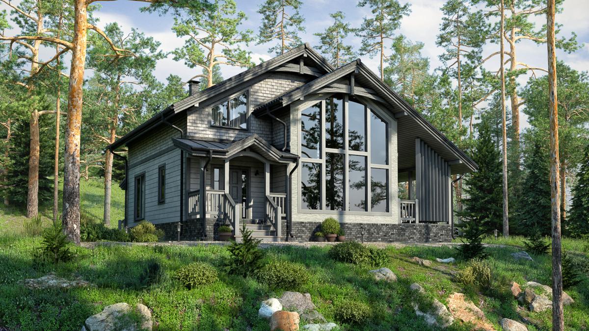 скандинавские каркасные дома