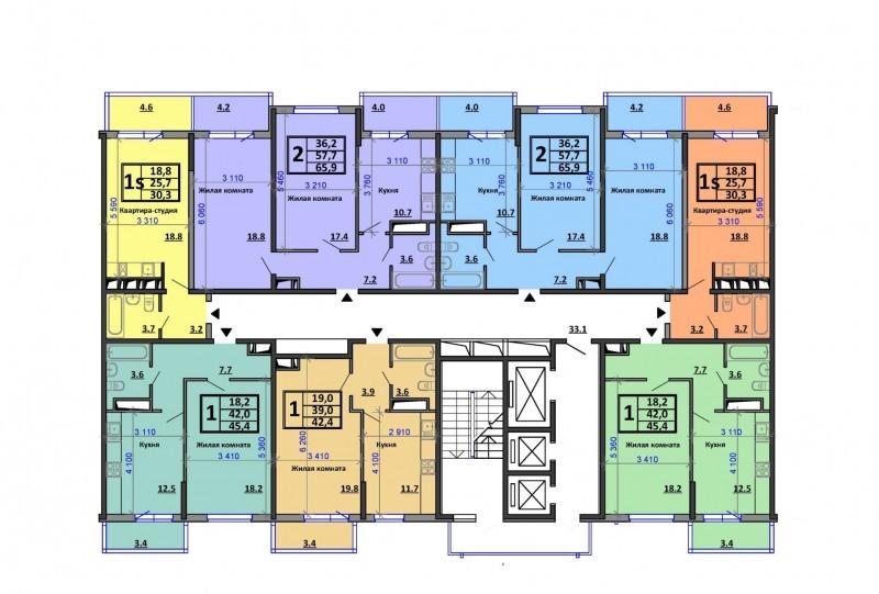 ЖК Аквамарин планировки квартир купить от застройщика