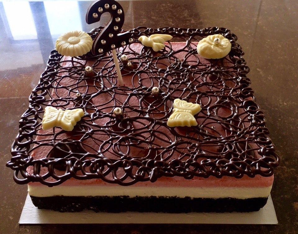 Декор торта из шоколада