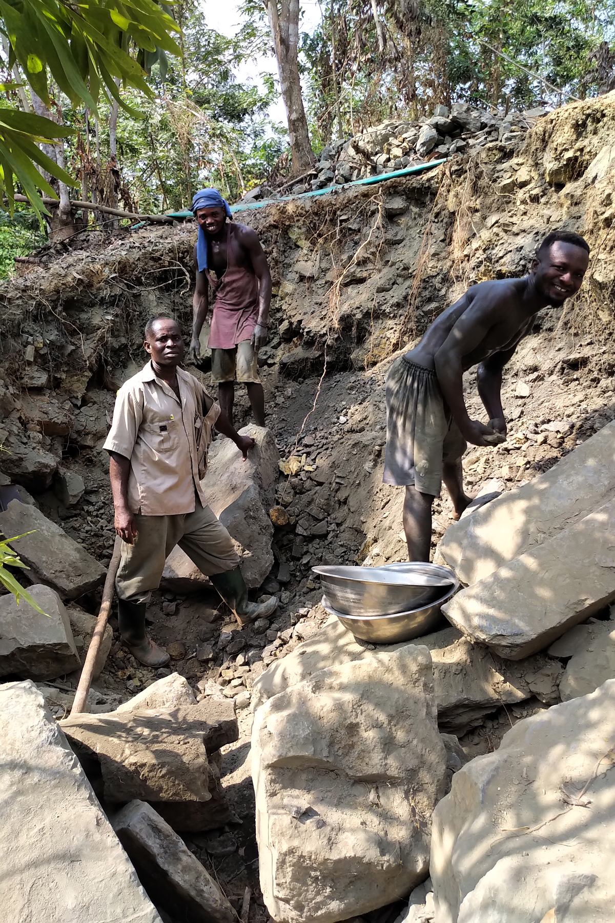 Kubi East Kubi Village Galamsey working old waste