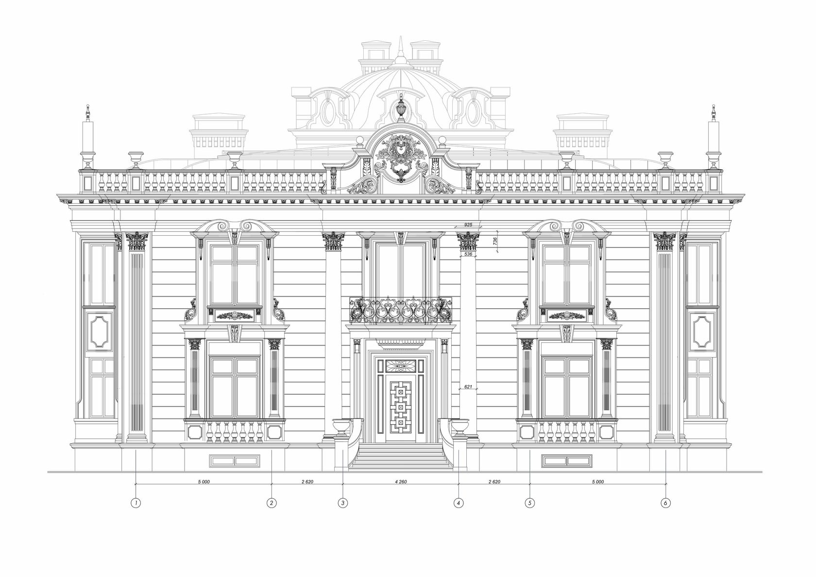 чертеж здания