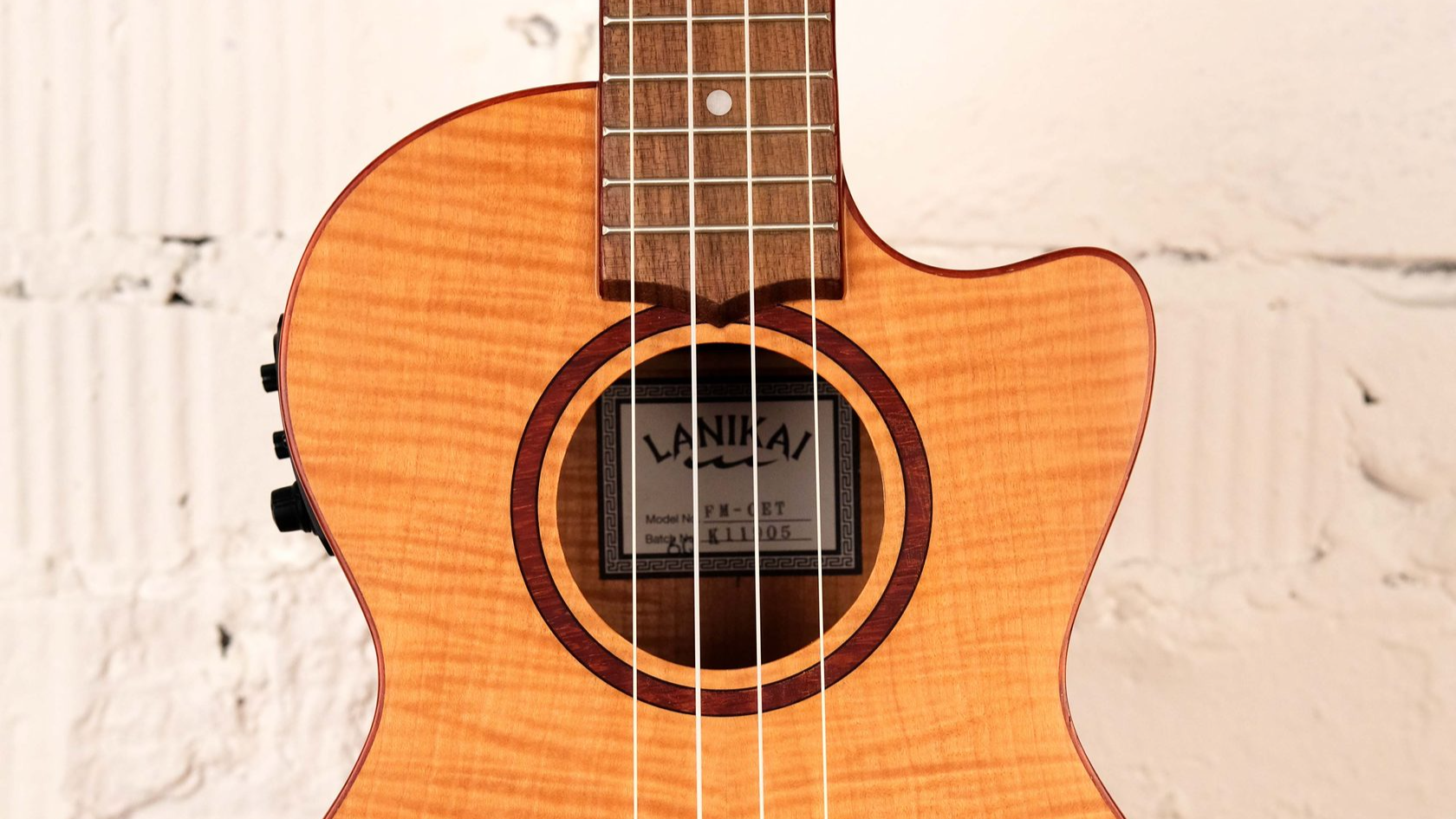 купить укулеле, магазин укулеле ukelovers, ukulele lanikai FM-CET со звукоснимателем, укулеле тенор, клен
