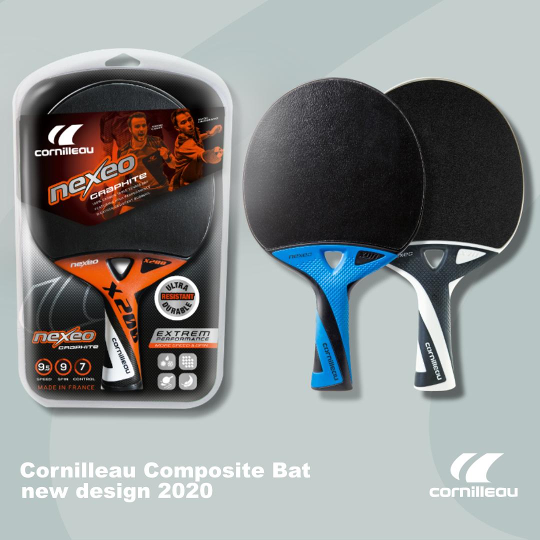 Cornilleau composite bat series new packaging design 2020