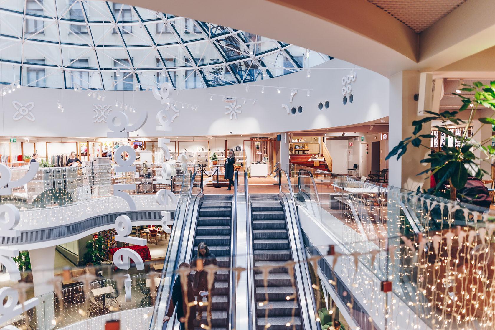Магазины одежды в Хельсинки в ТЦ Galleria Espland