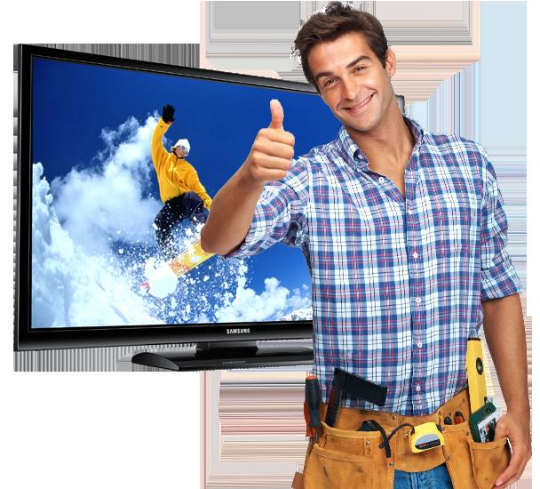 ремонт телевизоров реклама картинка студии рекорд, гигантским