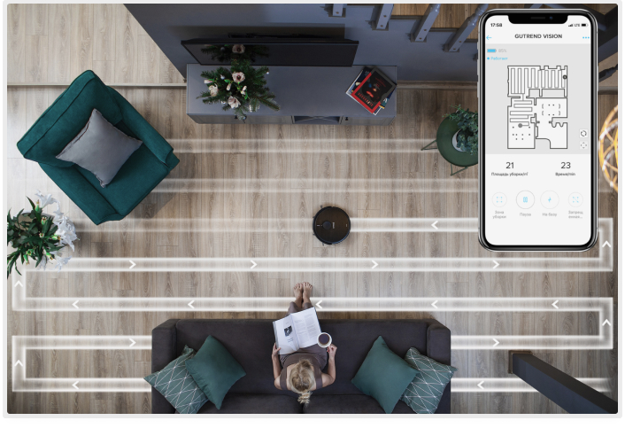 мобильное приложение для робота пылесоса