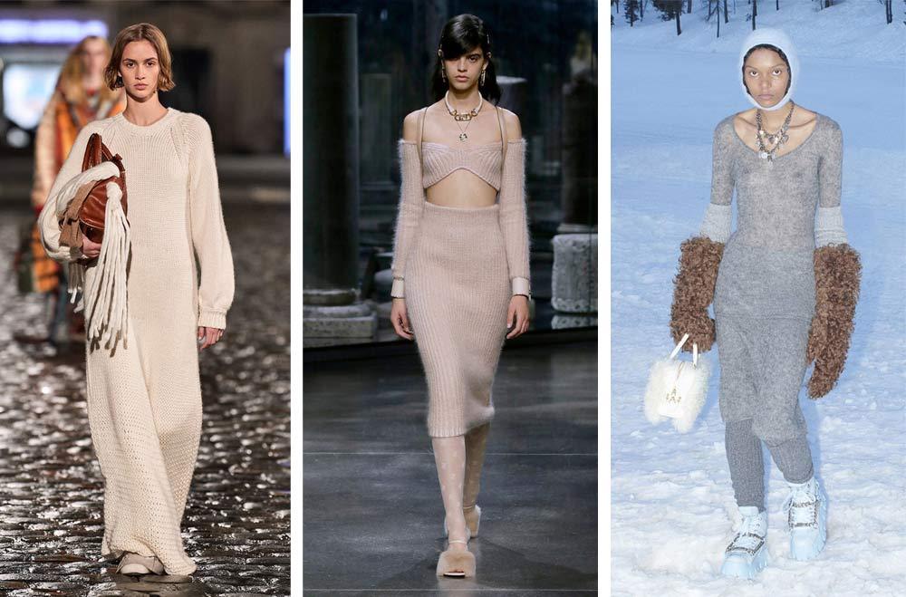 Ефектни плетени рокли за есен зима 2021 - 2022 според световните модни тенденции на Vogue.