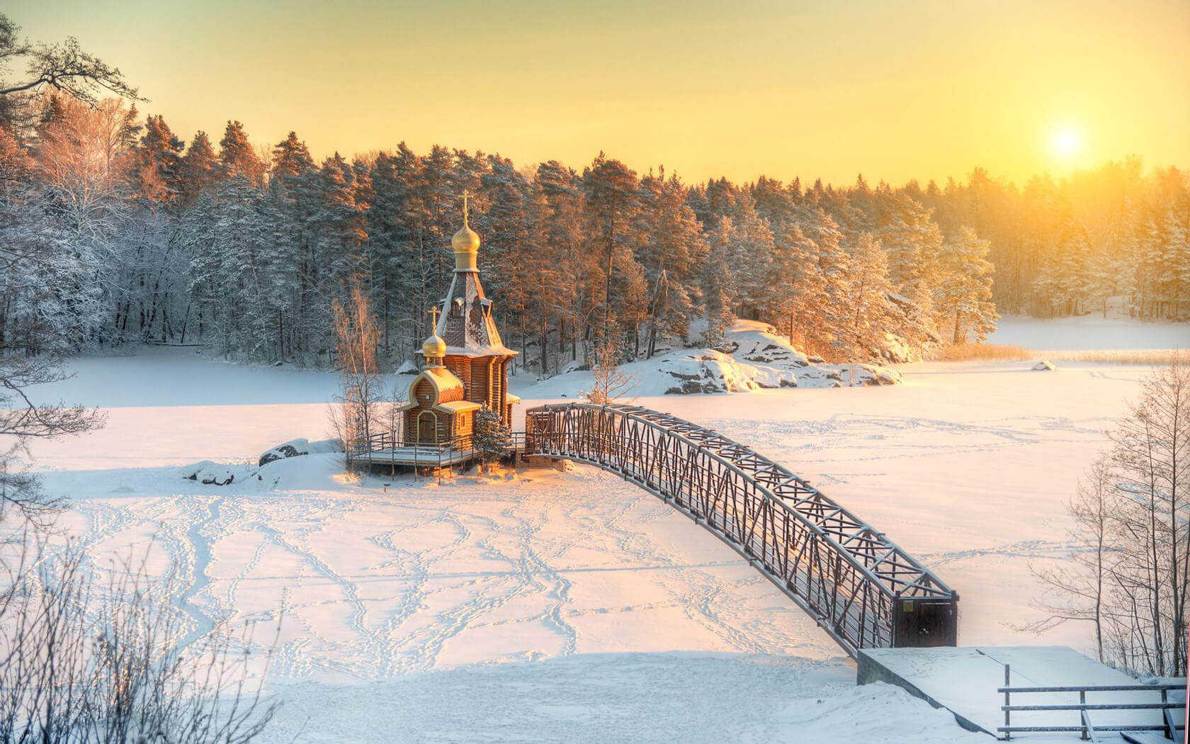 Река Вуокса, храм Андрея Первозванного