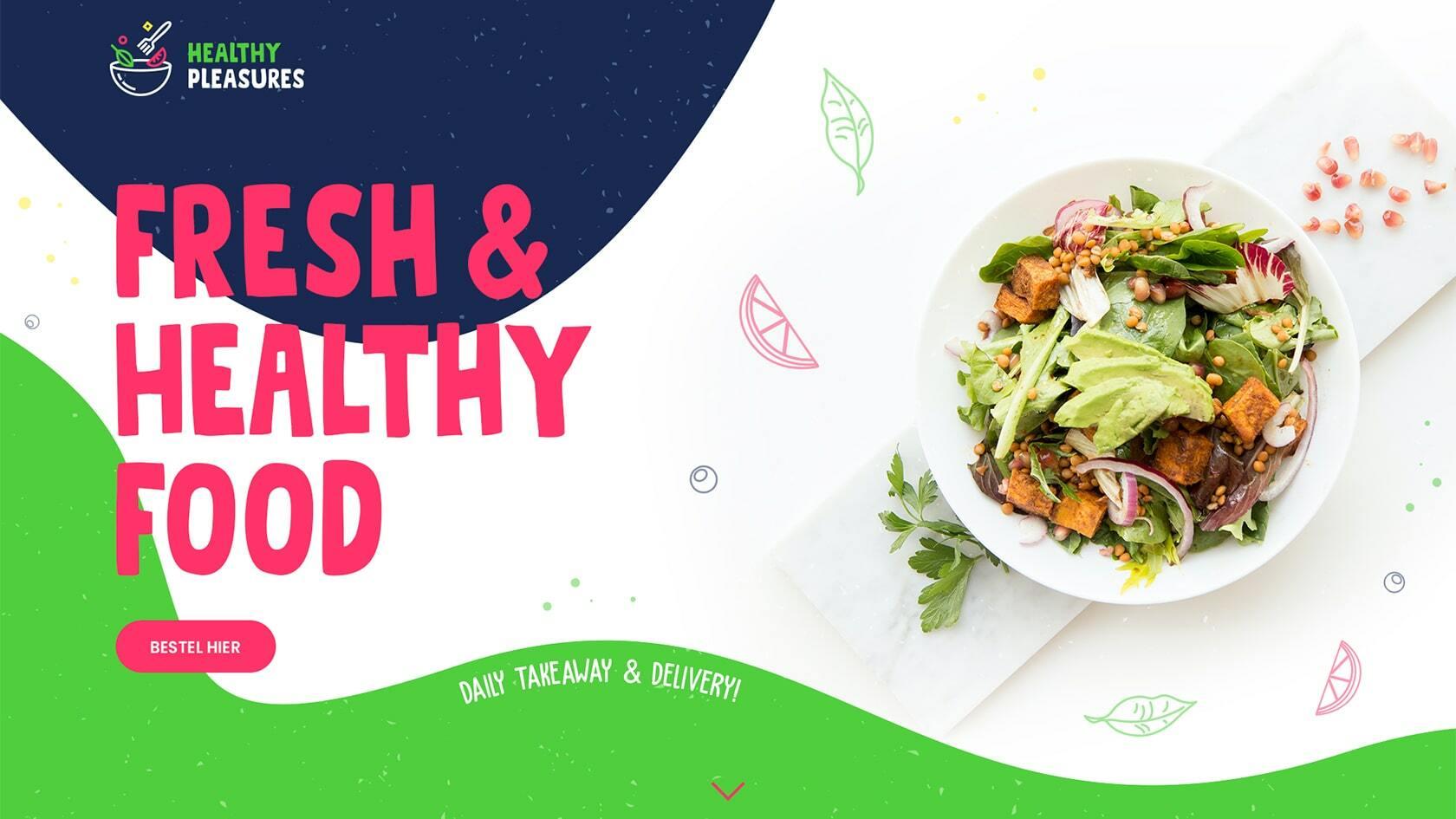 Website ontwerp Healthy Pleasures