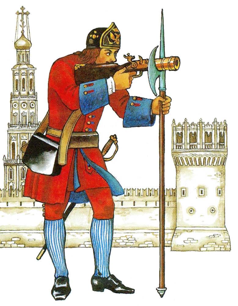 В 1694году ПётрI учредил при Преображенском полку бомбардирскую роту, всостав которой вошел иВасилий Корчмин. После обучения заграницей Корчмин стал сержантом бомбардирской роты, ас1713года— еефактическим командиром.