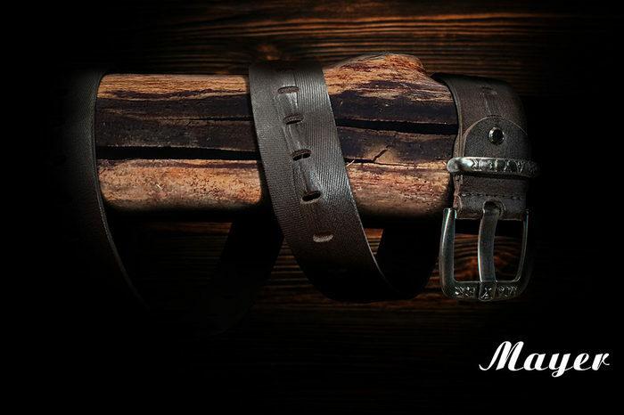 Кожаный ремень российского бренда Mayer