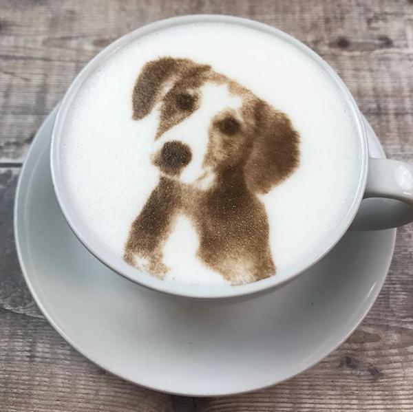 вам печать фото на кофейной пенке этом