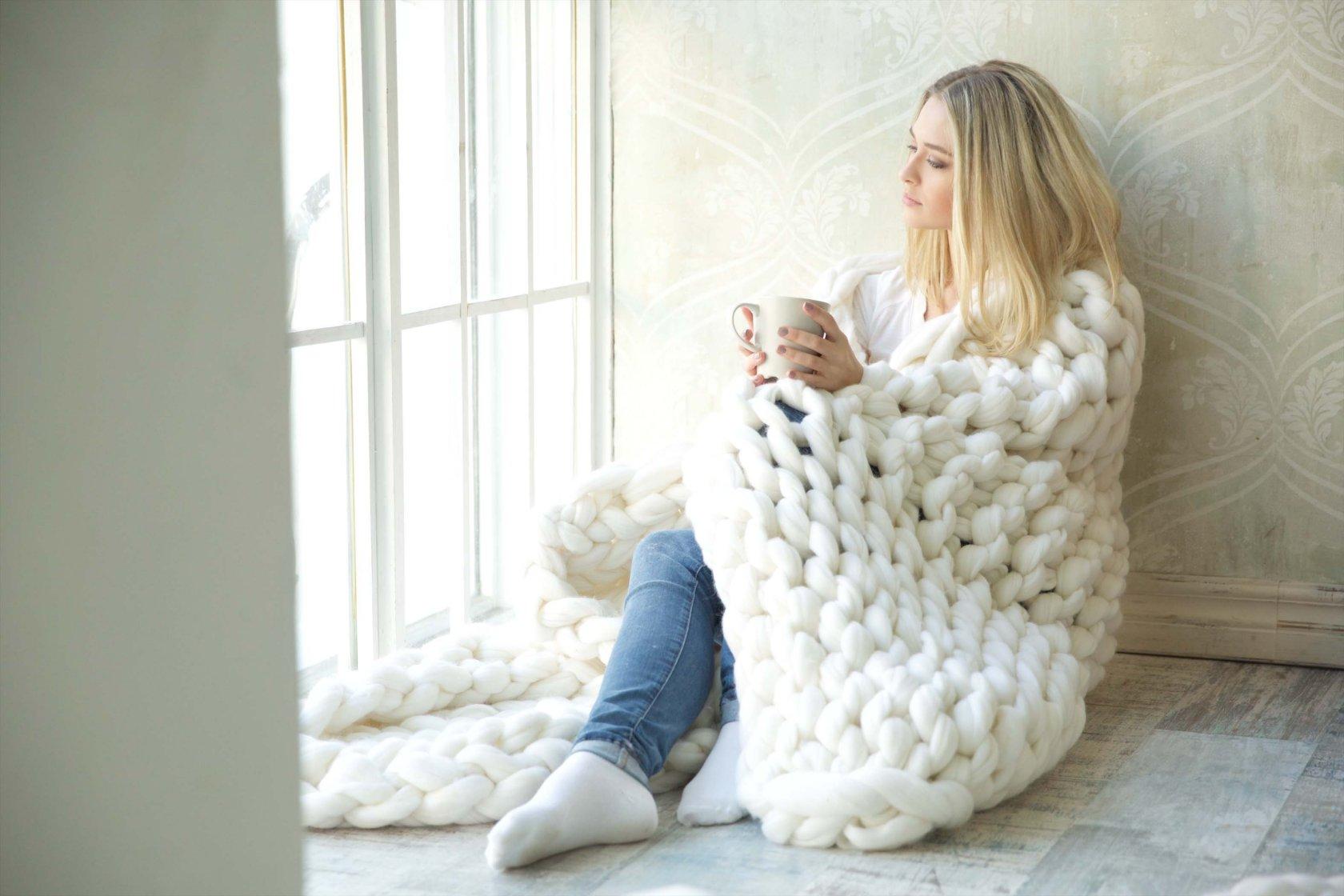 Woolie пледы крупной вязки