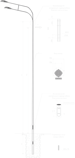 Опоры силовые прямостоечные граненые тип CПГ
