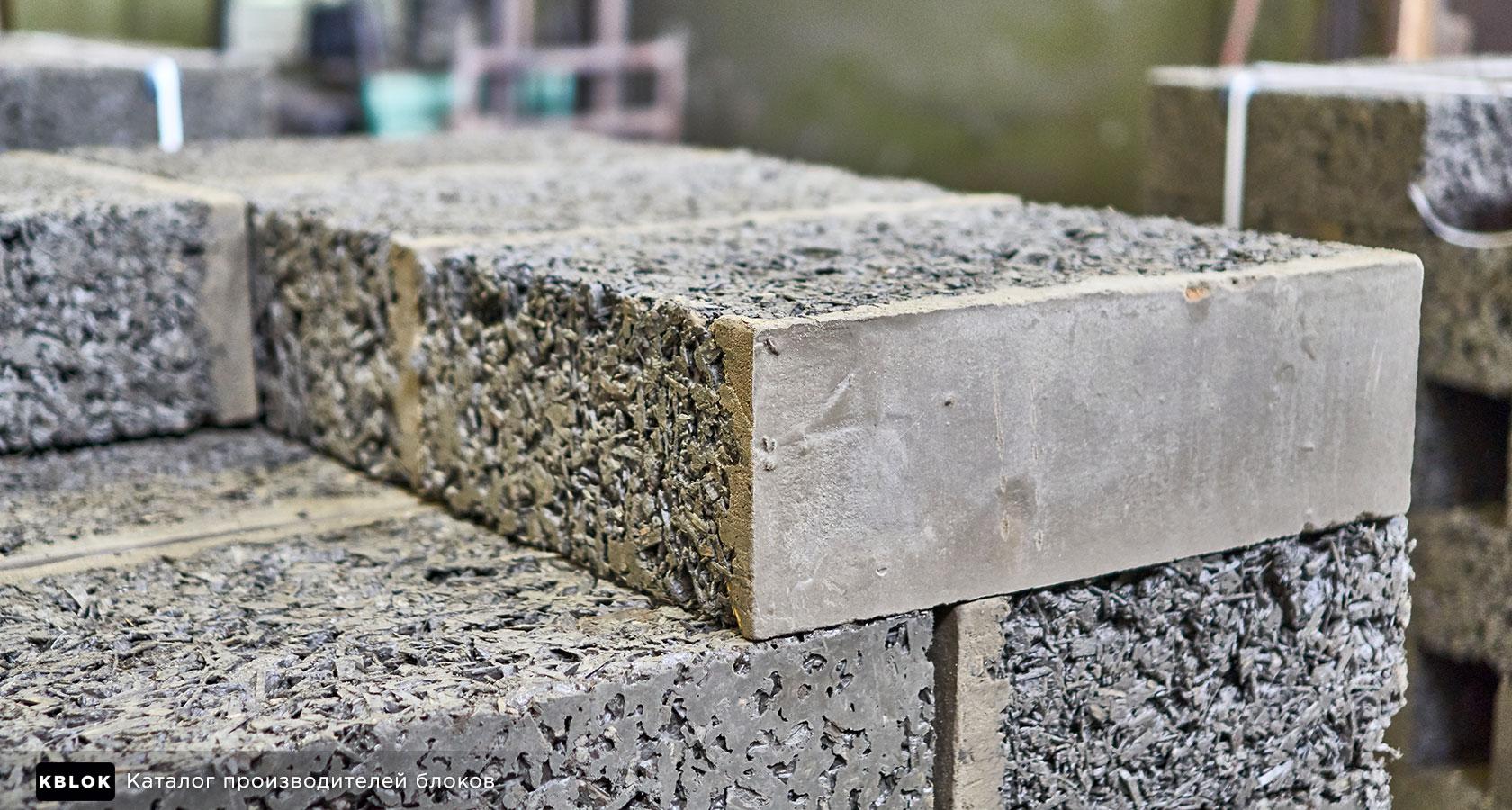 Арболитовый блок с облицовочным слоем