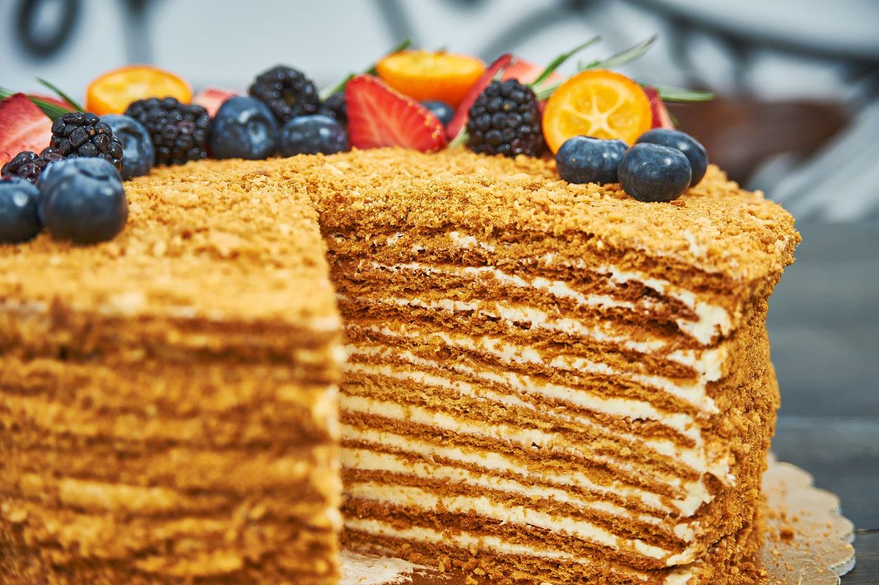 торт медовик классический