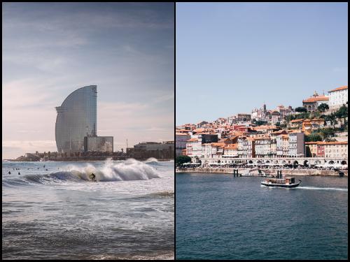 Барселона и Порту в январе