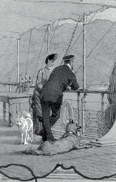 М. Зичи. Лист из серии «Путешествие императора Александра III и императрицы Марии Федоровны на Кавказ. 1888 Год». (1892 год)