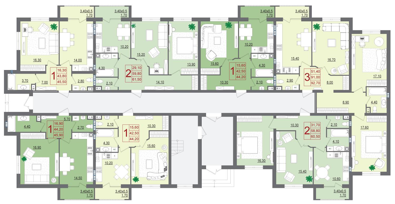 Планировки квартир ЖК Италия немецкая деревня
