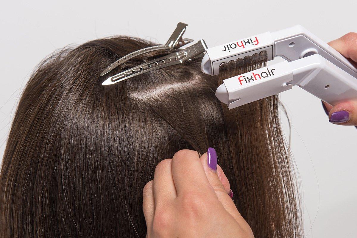 Ультразвуковой способ наращивания волос