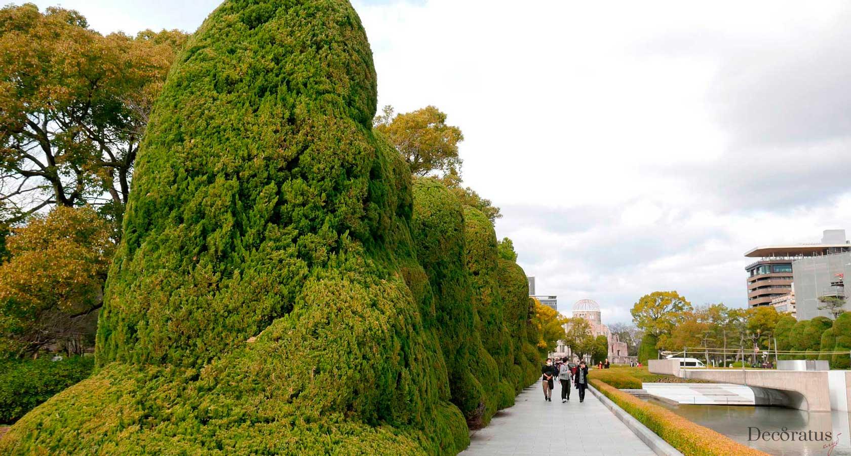 аллея парка мира в городе хиросима япония