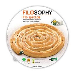 Пирог греческий Филло спиральный со шпинатом и сыром фета