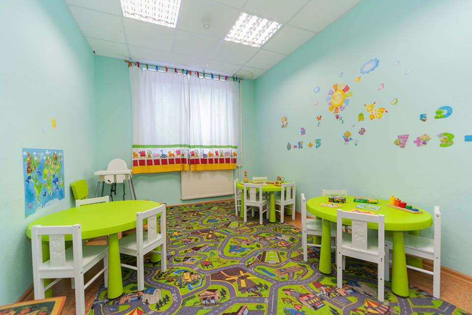 комната для занятий в частном детском саду