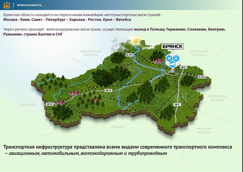 карта с фото брянской области туманок