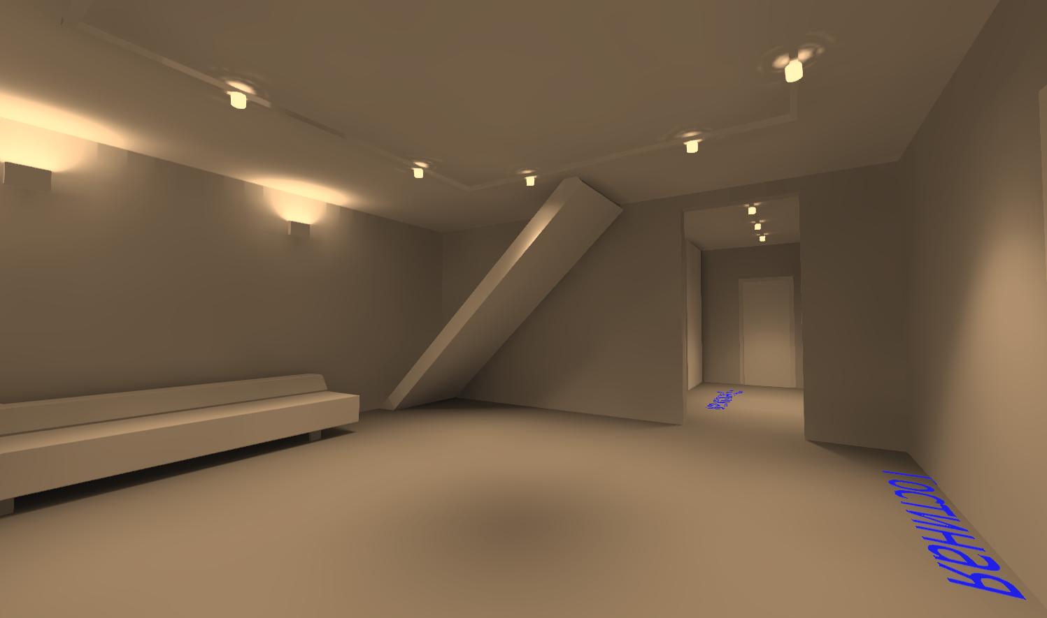 Вид 2. Освещение в гостиной