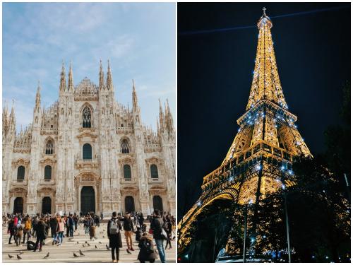 Милан и Париж в декабре
