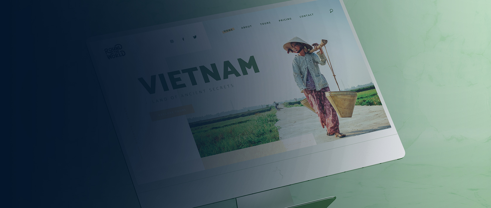 Branding en webdesign project Round The World