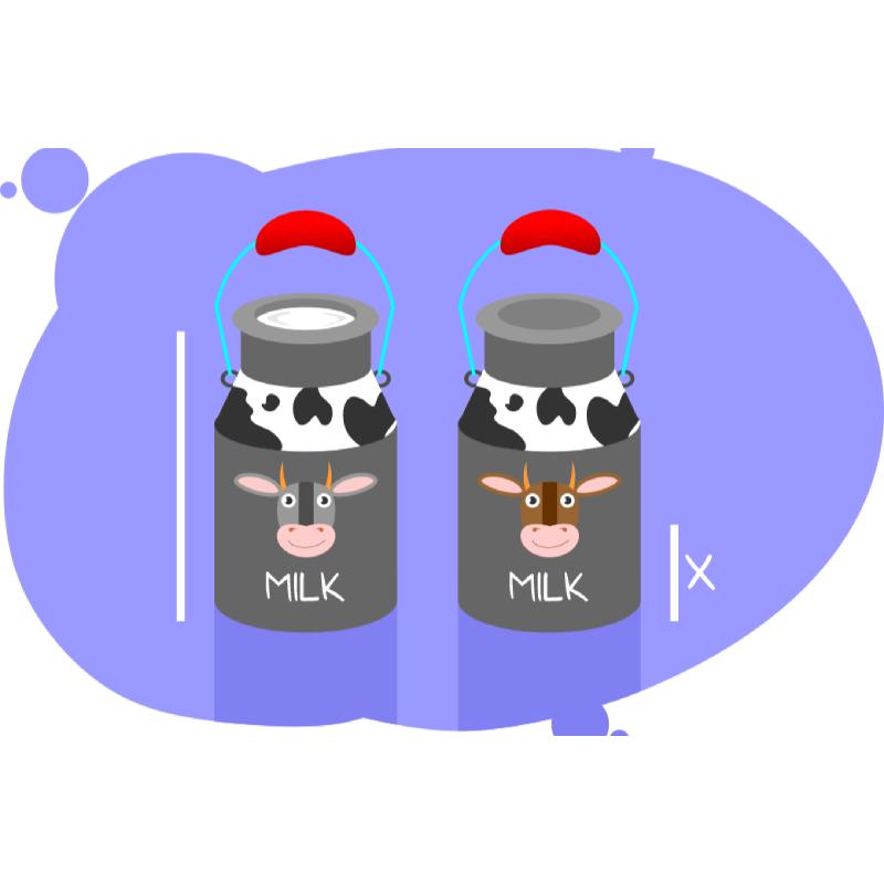 Задачи про молоко на целые числа