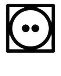 Символ на етикет за използване на сушилня със средна температура