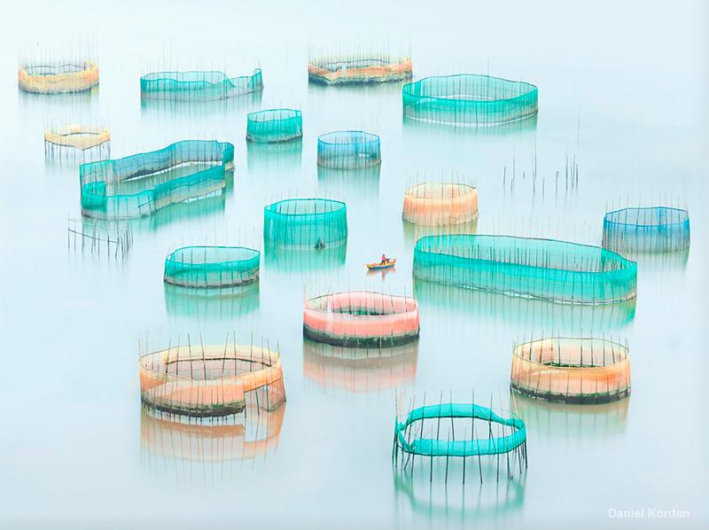 Fishing nets in Xiapu, China