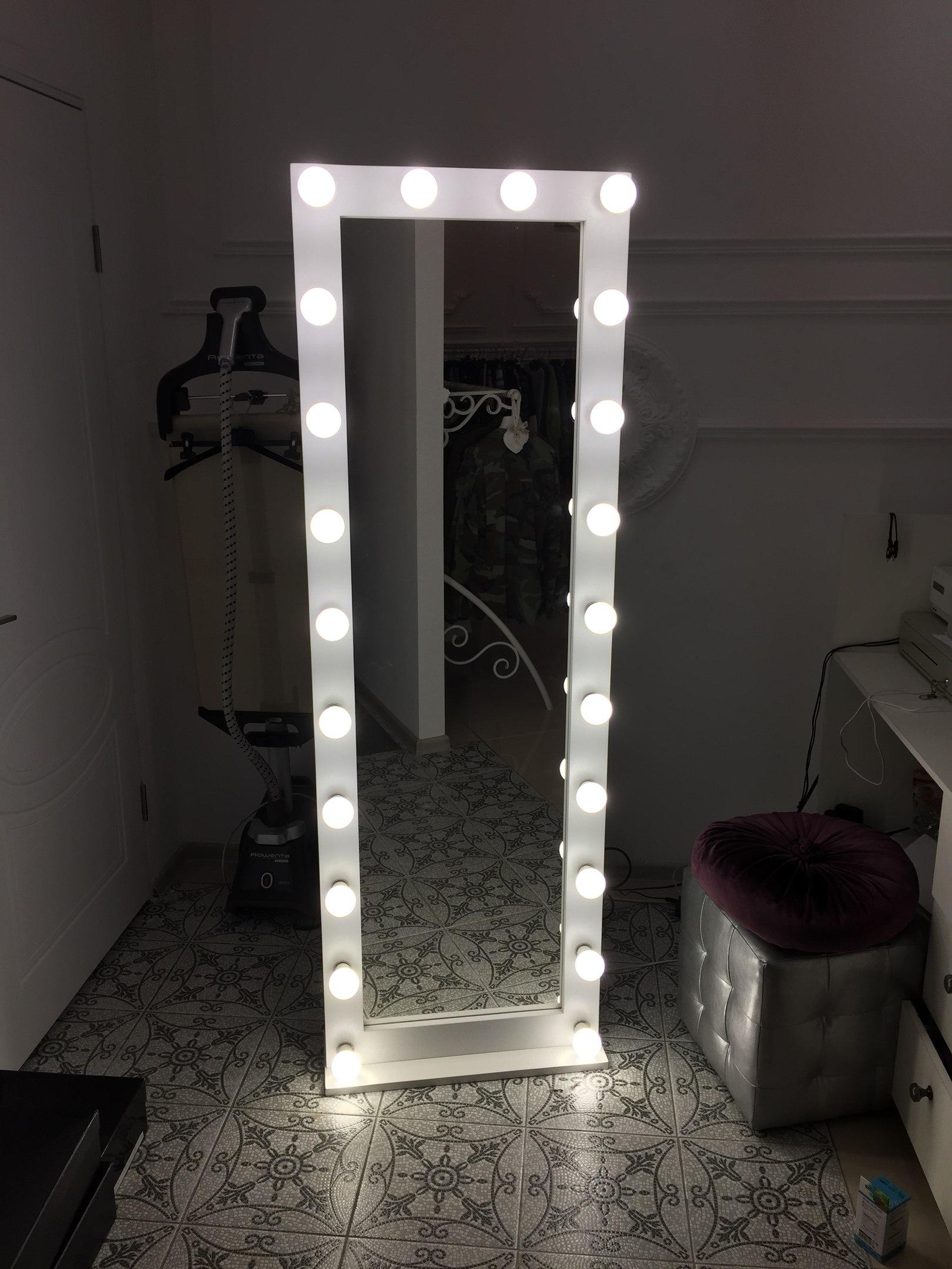 Гримерное узкое вертикальное зеркало