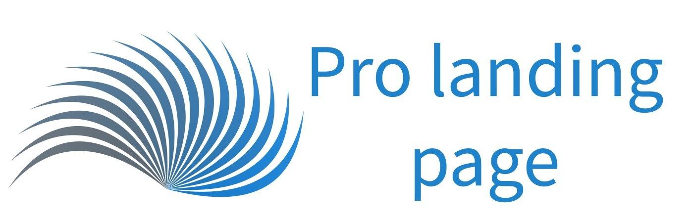 Pro landing page
