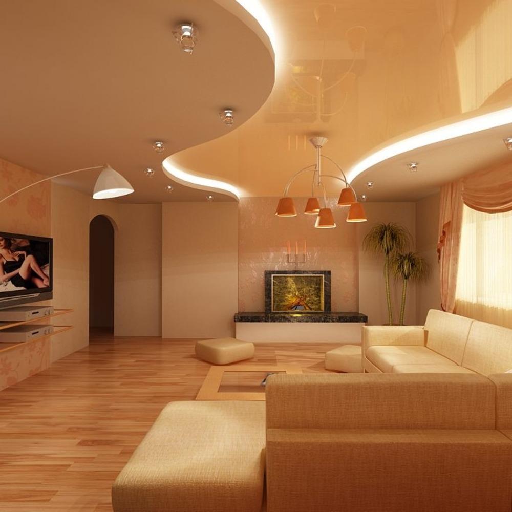 вот навесные потолки фото для зала двухуровневые неисправного танка