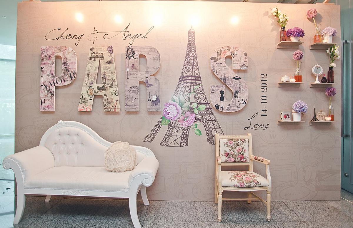 Картинки во французском стиле нарисованные для оформления стены в комнате