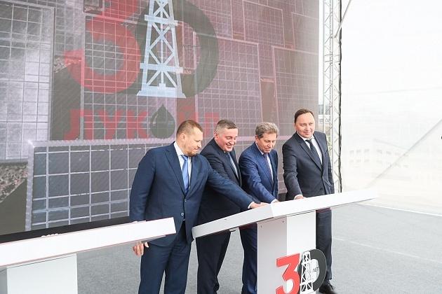 На территории ЛУКОЙЛа введена новая СЭС ГК «Хевел»