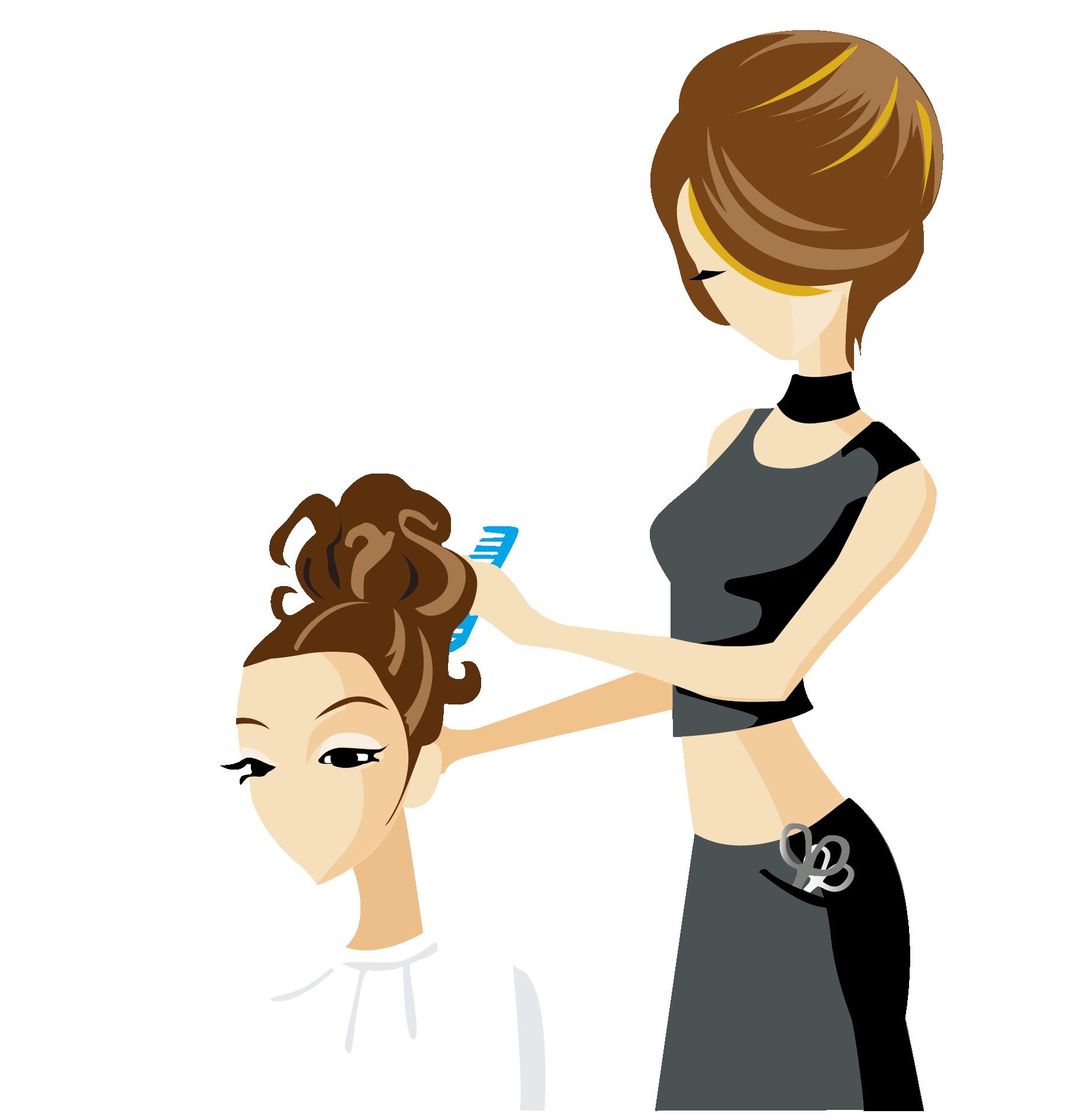 Картинка девочка парикмахер