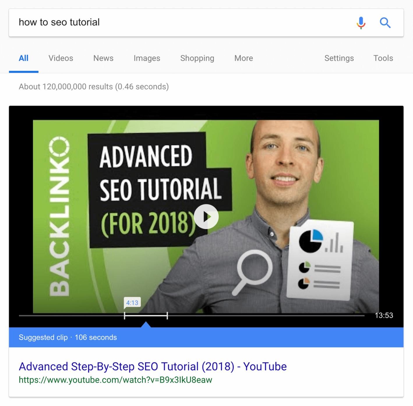 видео в блоке быстрых ответов гугл