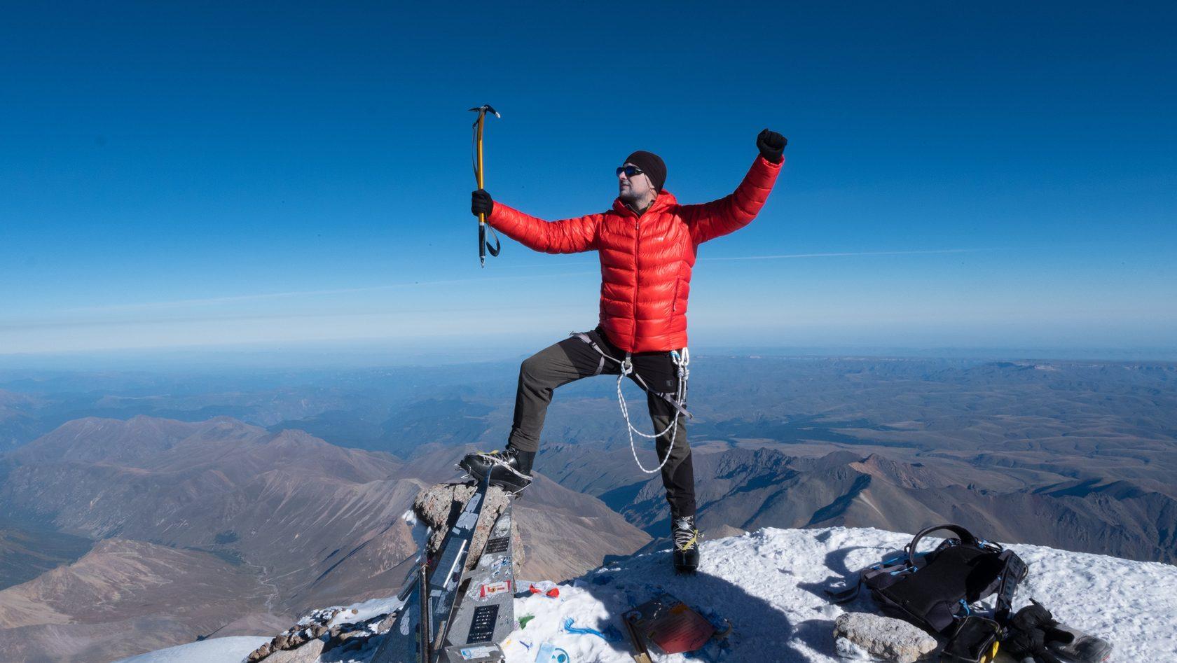 Фото на вершине Эльбруса