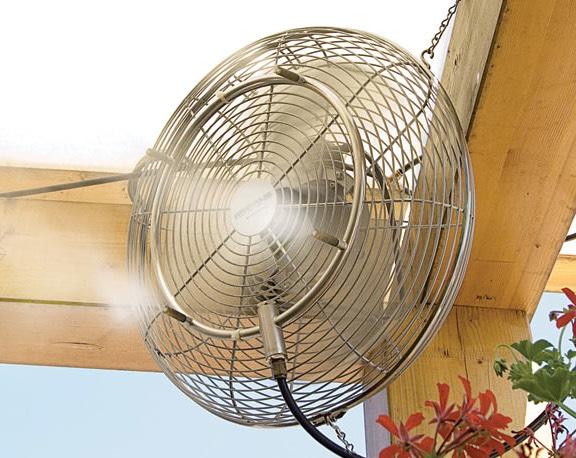 Подвесной вентилятор разбрызгивающий воду