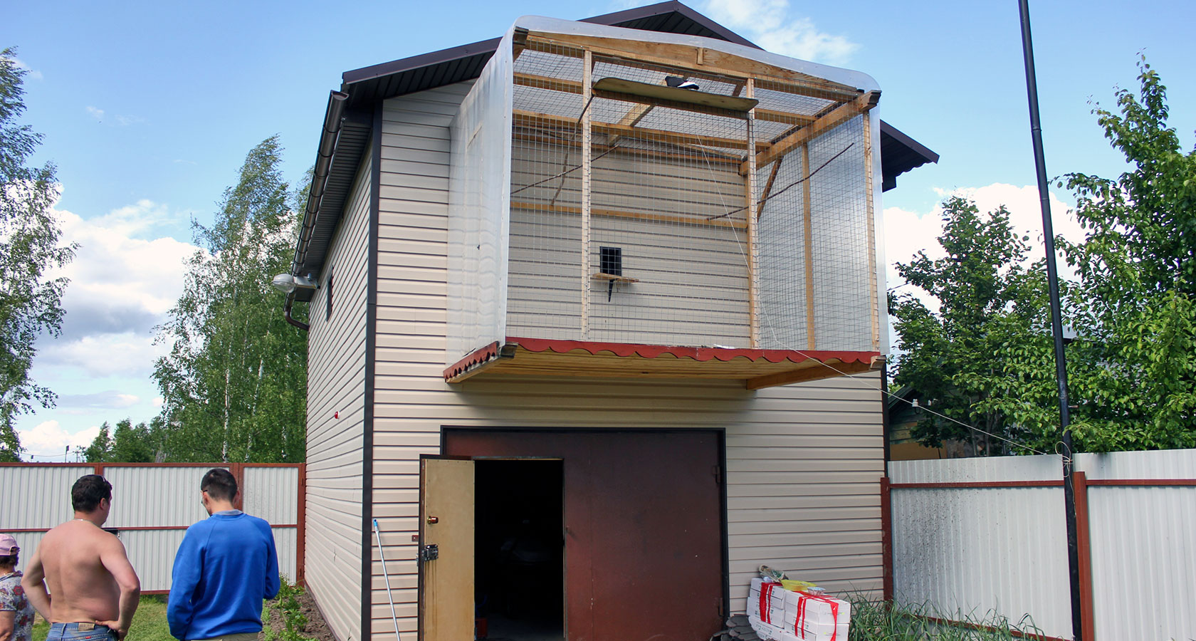 2 этажный гараж из блока